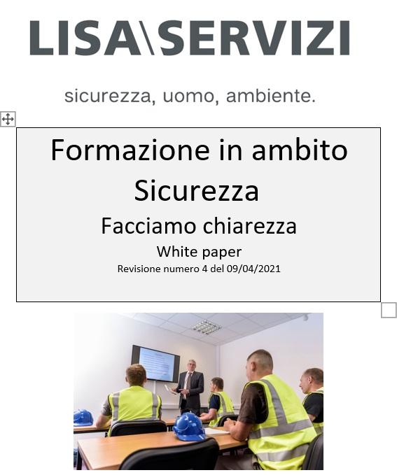 Speciale white paper Lisa Servizi formazione sicurezza