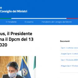 DPCM 13 Ottobre 2020 e trasferimenti da e verso l'estero