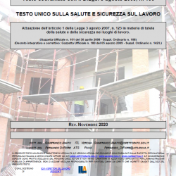 Testo Unico 81/08 edizione aggiornata a Novembre 2020